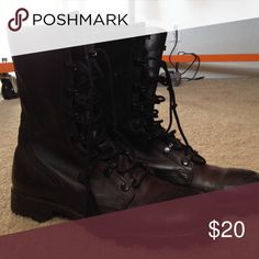 Combat boots, size 8 Not for sale yet, getting my printer up and running! :) Shoes Combat & Moto Boots
