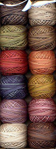 Valdani Perle Cotton Embroidery Thread Size 8 Vintage Hues Collection, http://www.amazon.com/dp/B002PIE420/ref=cm_sw_r_pi_awdm_BuaJwb096NYNR