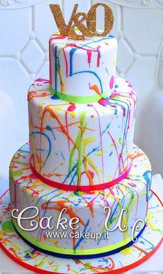 FLUO POLLOCK CAKE