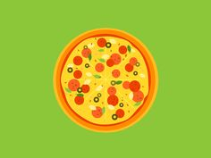 Circle Food by Chris Phillips #Design Popular #Dribbble #shots