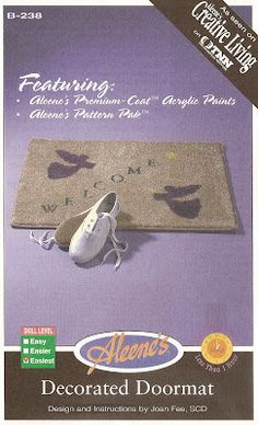 Learn how to make an Adoorable welcome mat with some paint and a carpet sample discard.