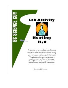 A template for an introduction to chemistry lab.  Students heat ice water until the boiling point is reached and then graph the results.  $1.99