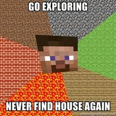 i think i will explore a little over there oh god wheres the - Minecraft Minecraft Logic, How To Play Minecraft, Minecraft Stuff, Minecraft Quotes, Minecraft Tips, Amazing Minecraft, Minecraft Party, Minecraft Pictures, Minecraft Commands