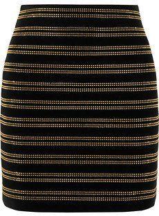 Pin for Later: 44 Alternatives à la Collection Balmain x H&M  Balmain - Mini-jupe en velours ornée de cristaux (945€)