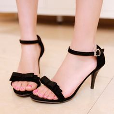 Online Shop Shopping bow thin heels high-heeled sandals for women, open toe shoes brief all-match elegant gentle women shoes|Aliexpress Mobile