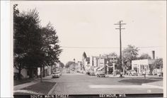RP:  Main Street , Looking South , SEYMOUR , Wisconsin , 30-40s