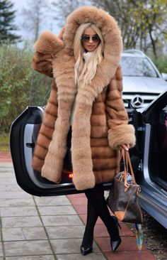 NEW PASTEL SAGA MINK FUR COAT FOX HOOD CLASS OF RUSSIAN SABLE CHINCHILLA JACKET | eBay