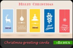 Christmas Greeting Cards Set 2 by danarizescu on Creative Market