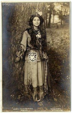 """*""""Pretty Flower - 1900"""" Photo by Native Americans*"""