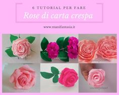 rose in carta crespa