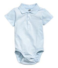 Piqué bodysuit | Light blue | Kids | H&M AU