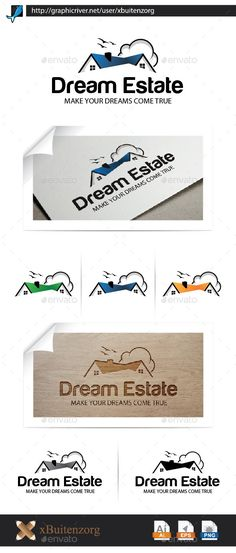 Dream Estate Logo Design Template Vector #logotype Download it here:  http://graphicriver.net/item/dream-estate/10189253?s_rank=1735?ref=nesto