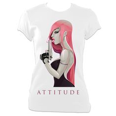 Attitude Ladies Fitted T-Shirt available in white or black. £15.99  https://www.passoom.com/products/attitude-ladies-fitted-t-shirt