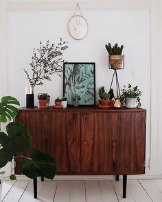 my scandinavian home: mid-century credenza in Josi's Relaxed & Super Charming Berlin home