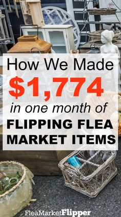 We love picking and flipping items from flea markets, yard sales, and thrift stores! And making money on eBay. Such a fun way to make an income!