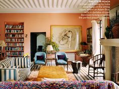 India Jane Birley's Morocco Home - Vogue feb 2014 Great wall color