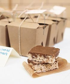 Chocolate-Topped Crispy Bars For an extra wow, add a layer of chocolate to traditional crispy bars.