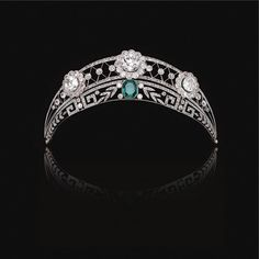 THE PROPERTY OF A NOBLE FAMILY FROM WESTPHALIA- Emerald and diamond tiara, circa 1910.