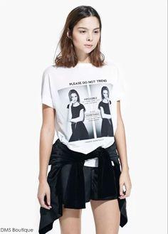 camiseta branca mango