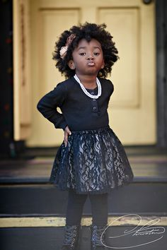Lovin' the attitude--and that skirt!