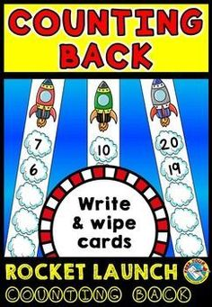 OUTER SPACE ROCKET MATH COUNTING BACKWARDS CENTER ACTIVITY TASK CARDS MATH GAME