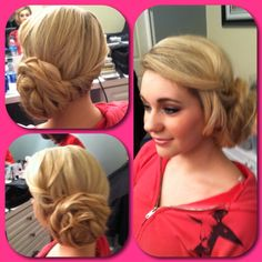 Wedding hair , bridal hair , updo , bride , bridesmaids-hair , prom , homecoming , hair by Rochelle Noone on location bridal stylist Pittsburgh pa