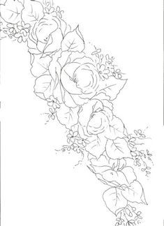 flores - mara cristina franco godoy neto - Álbuns da web do Picasa Embroidery Flowers Pattern, Flower Patterns, Flower Sketches, One Stroke Painting, Black Flowers, Chinese Painting, Line Drawing, Colored Pencils, Wallpaper Backgrounds