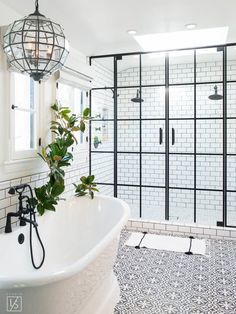 The clean, crisp palette of black and white is a perfect choice for the bathroom — a place with cleanliness at the very center of its purpose. And there are so many gorgeous ways to make this combination work: a black clawfoot tub paired with bright white subway tile, a black sink against a white marble wall, or just a traditional black-and-white tile floor. If you crave a little contrast in the bathroom, take a look at these 15 inspiring spaces.