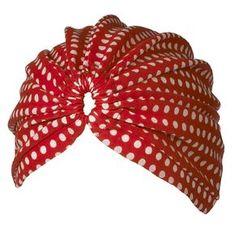 vintage polka dot turban so cute!