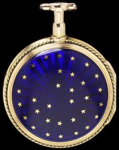 Enamelled Gold Watch Made By LeCoeur L'aine (Movement) - Paris, France    c.1783-1784