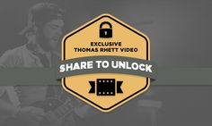 Share to unlock exclusive video content from Thomas Rhett! Head to www.thomasrhett.com  Don't forget to vote for Thomas for the ACM New Artist of the year! www.voteacm.com