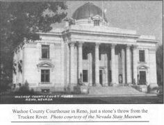 "Getting ""Reno-vated""  Washoe County Courthouse. In 1931, the divorce time requirement was cut to six weeks and gambling was legalized. During the 1930s, over 30,000 divorces were granted in the Washoe County Courthouse. In popular culture, Reno became known as the ""Great Divide."" Getting a Reno divorce was called taking ""the cure"" and getting ""Reno-vated."""