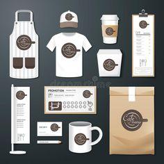 Download Vector Restaurant Cafe Set Flyer, Menu, Package, T-shirt, Cap, Uniform Design Stock Vector - Illustration of brochure, icons: 50840997