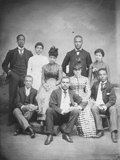 African American Family, c. 1860 Credit: National Museum of American History  Vintage African American photography courtesy of Black History Album, The Way We Were.