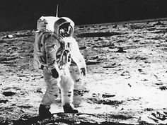 """❖ July 20, 1969 ❖ At 10:56 p.m. EDT, American astronaut Neil Armstrong, 240,000 miles from Earth, speaks these words to more than a billion people listening at home: """"That's one small step for man, one giant leap for mankind."""" Stepping off the lunar landing module Eagle, Armstrong became the first human to walk on the surface of the moon."""