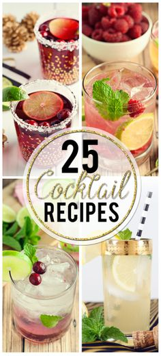 25 Cocktail Recipes that are perfect for NYE!