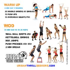 wallball shots,kettlebell swing,box jumps,push presses,double unders, singles…