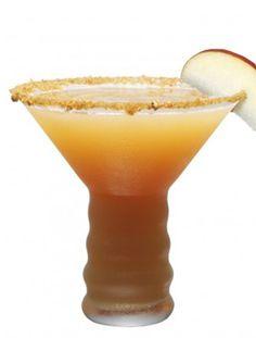 Spiced Caramel Apple...2 oz. Ginger Liqueur   1 oz. Vodka - Caramel   2 ½ oz Apple Cider   1 dash Lemon Juice   Agave Nectar