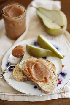 Slow Cooker Pear-Quince Butter | girlversusdough.com @stephmwise