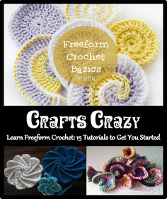 15 Freeform Crochet Tutorials