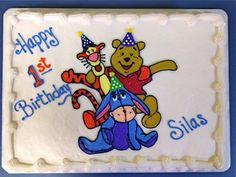 Winnie the Pooh, Tigger and Eeyore cake by BennysBakeryCakes, via Flickr