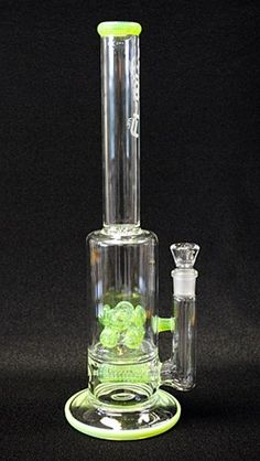 """15"""" Tall Slime Barrel In-Line to Double Cross Diffused Water Pipe"""