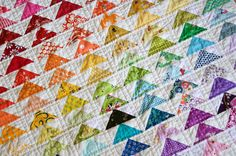 Rainbow Geese Quilt