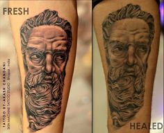 Snagged a healed pic of Neptune portrait I did 3 months ago! Awesomely healed than expected    Tattoo by Akash Chandani  Your Views,Comments and Shares would be appreciated ! For more information visit and like us at - Skin Machine Tattoo Studio . Bhopal. India #art #neptune #neptunetattoo #Respect #realism #portraittattoo #healed #healedtattoo #tattoos #tattoo #tattooed #tattooedmen #ink #inked #getInked #inklife #guyswithink #guyswithtattoos