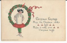 Beautiful 1921 Merry Christmas Embossed Postcard By Raphael Tuck by COLLECTORSCENTER on Etsy