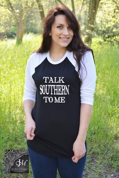 Talk Southern To Me Baseball Tee - Jack & Monroe Boutique