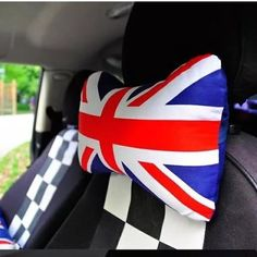 UK Jack Union Bone Shaped Car Headrest Pillow