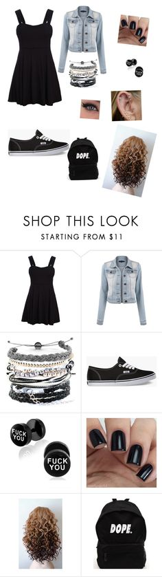"""School"" by lauraleevogel on Polyvore featuring WithChic, Domo Beads and Vans"
