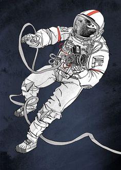 Astronaut illustration for 711rent #astronaut #illustration: