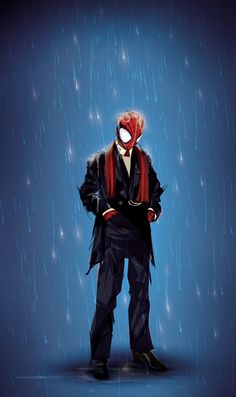 I have no idea why. but I wanted to see spidey in a suit. I've been on Vacation for the last 3 weeks- (got dozens of sketches to post and a story or two later this week) but It was difficult ...